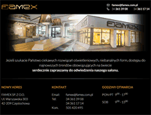 Tablet Preview of famex.com.pl